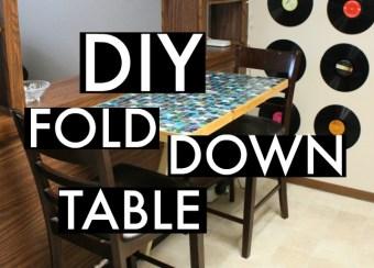 DIY Fold-Down Kitchen Table (Space Saver)