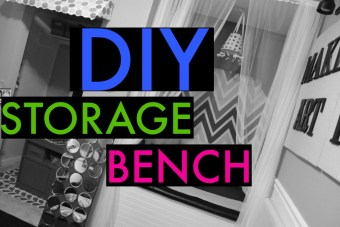 DIY Storage Bench/Reading Nook