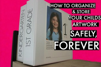 DIY- How to Organize + Store Child's Artwork (keepsakes) Forever, Safely
