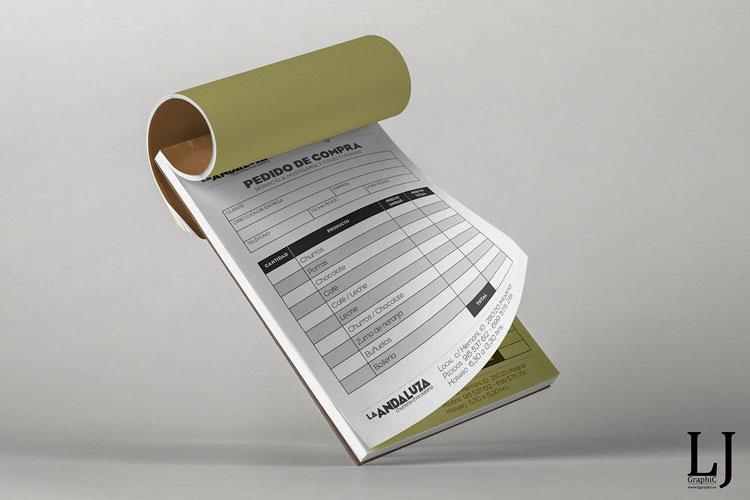 Impresión y diseño de talonarios copiativos