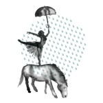 THE HORSES STAND IN THE RAIN