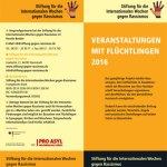 Veranstaltungen mit Flüchtlingen
