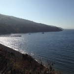 At anchor, Santa Cruz Island