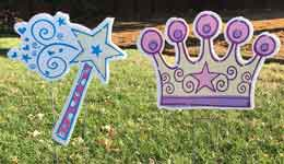 Princess Wands and Crows from Greetings by the Yard, Cards by the Yard, Flamingo Surprise