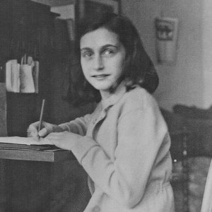 Anne Frank at Desk 2