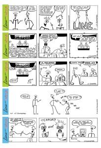 Line With Wine Comic