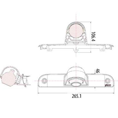 Bromsljuskamera, Fiat Ducato, Peugeot Boxer, Citroen