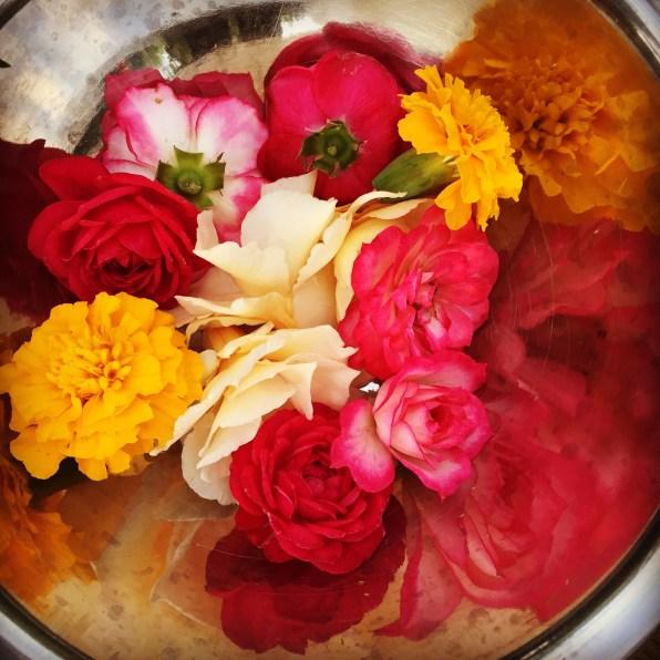 day 118 altar flowers