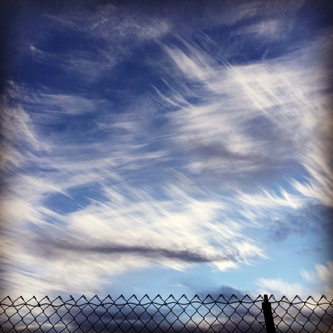 day 130 horsetail clouds wfence