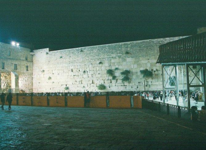 Visting the Kotel on the 1st night of Shnat