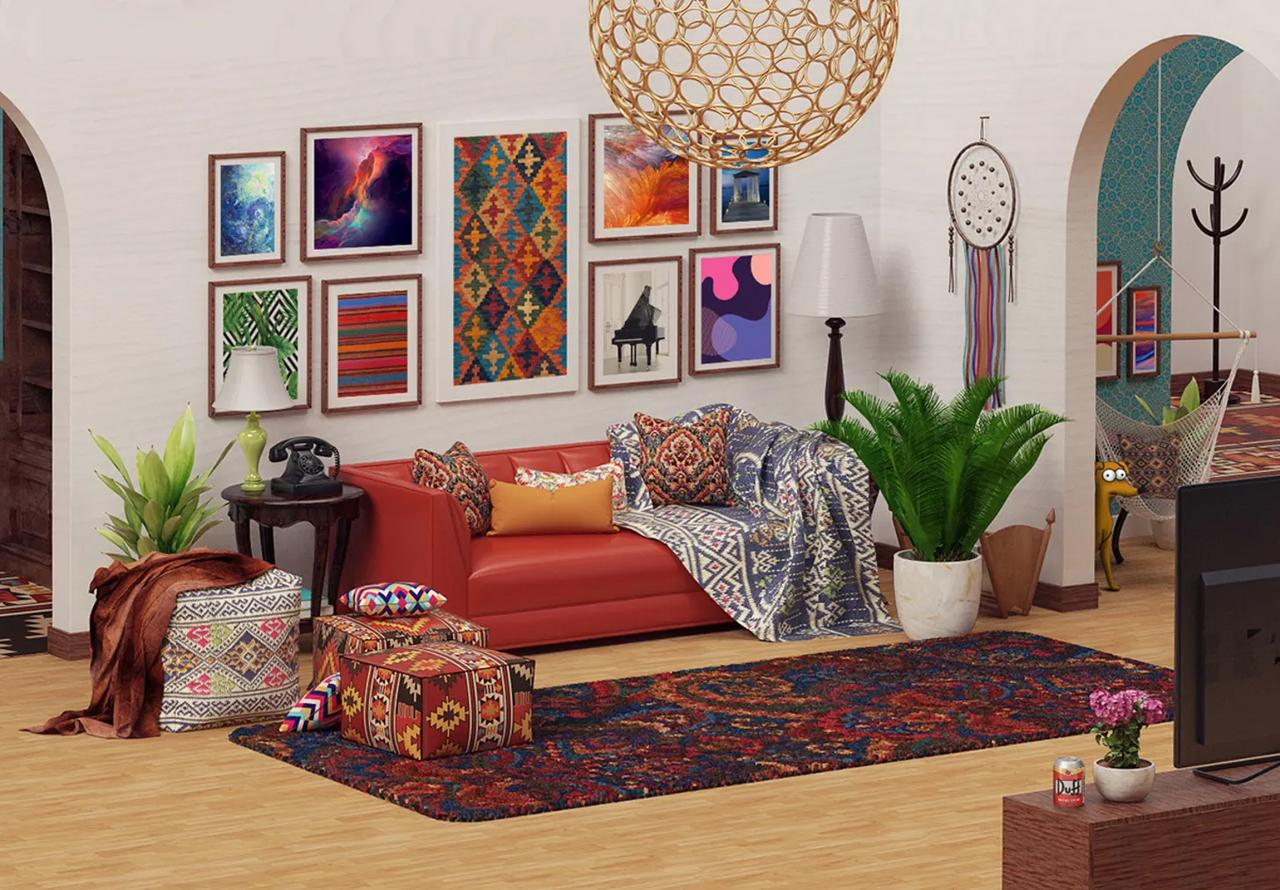 The Simpsons Living Room Reimagined