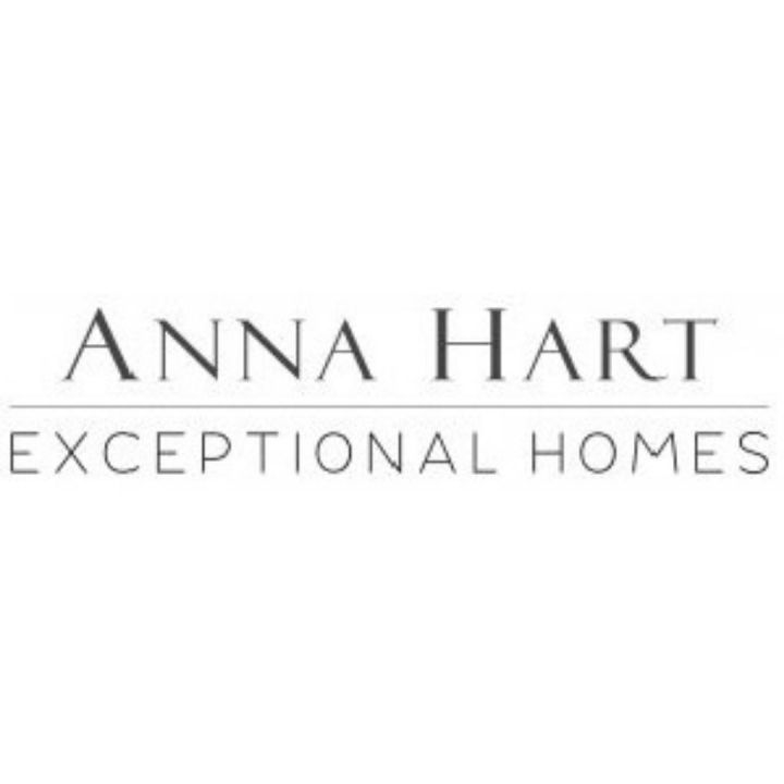 anna hart exceptional homes logo black text on white background