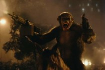 Planet of The Apes. Ape using Gun