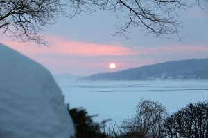 Sunset over Lake Geneva