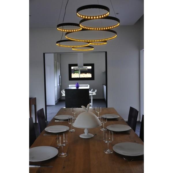 Suspension Ultra8  LED noire design de Le Deun Luminaires