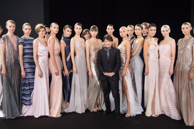 Валентин Юдашкин на неделе моды в Москве