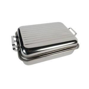 118-10 Medium Stainless Steel Roaster
