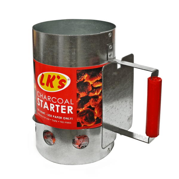 124-10 charcoal starter galvanized