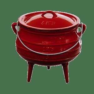 145-2 no3 red 3 leg pot
