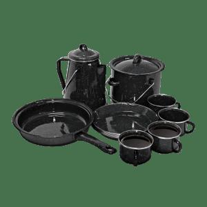 225-057 Black Enamel 13 Piece Camping Set
