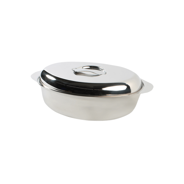 118-13 Stainless Steel Large Oval Casserole