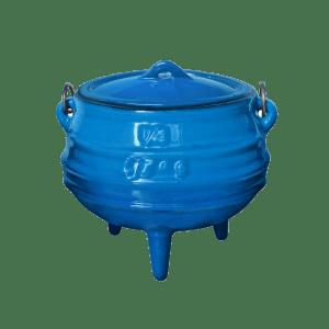 147/3 - 1/4 - 3 legg blue pot