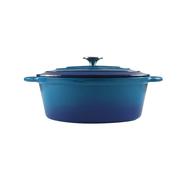 160-053 - blue oval casserole 1