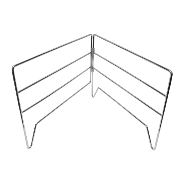 122-28 chrome folding grid stand