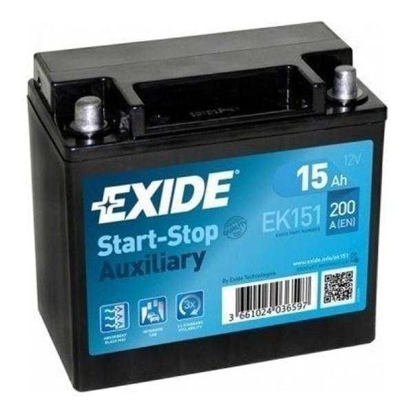 15AH EXIDE START-STOP AGM EK151