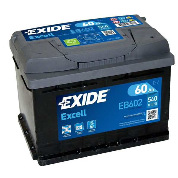 60AH EXCELL EXIDE