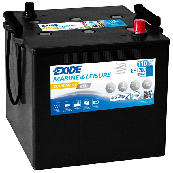 110AH EXIDE EQUIPMENT GEL MARINE