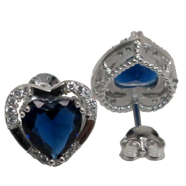 925 Sterling Silver Heart Earrings Studs