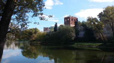 View from the lake towards the convent