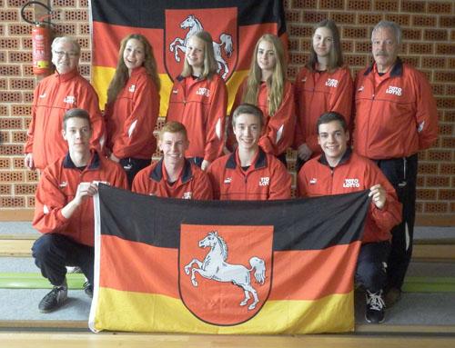Team Niedersachsen wurde beim Deutschlandpokal Dritter mit Vivien Höltig (hinten 4.von links)