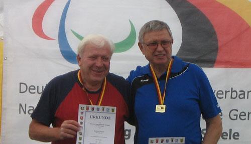 Rainhard Macke (links) mit dem Deutschen Meister Hans-Peter Maack