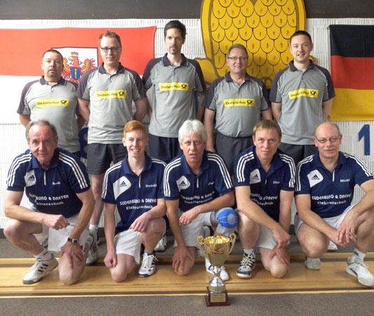 oben: Lüneburgs PokalsiegerKSG Lüneburg I unten: Supercup-Gewinner Blau-Weiß Uelzen