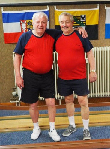 Foto: Bronzemedaillengewinner und DM-Teilnehmer Rainhard Macke und Rolf Eggert (v. l.)