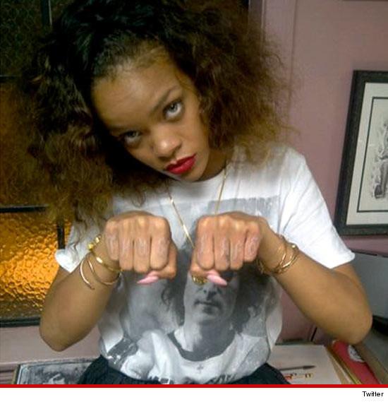 Rihanna New Tupac Thug Life Tattoo