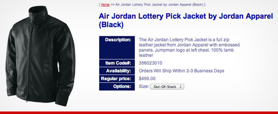 Air Jordan Lottery Pick Jacket