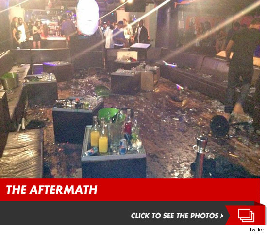 The aftermath of the New York City nightclub brawl