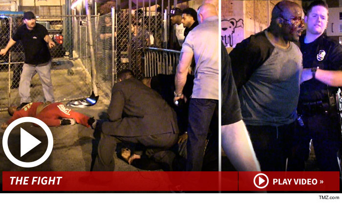 The Game and TI rappers crew get into a fight at the club.