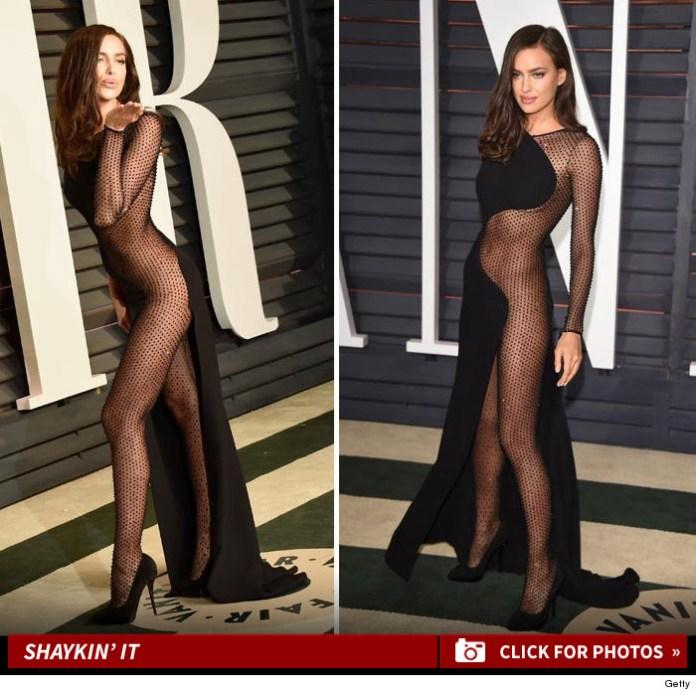 Foto Seksi Irina Shayk Vanity Fair Oscar 2015 Hot Nyaris Telanjang