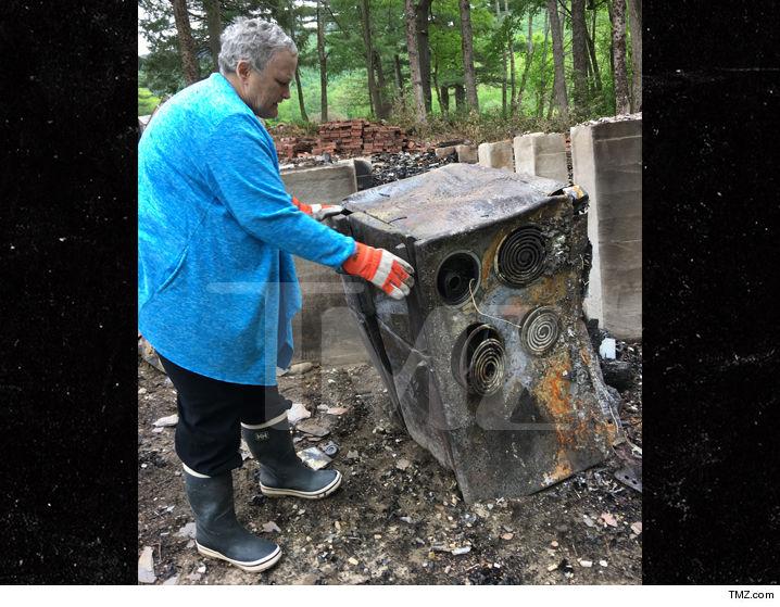 Debbie Rowe Burns Down House (photos)  Tmz