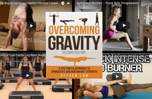 Home workout video options