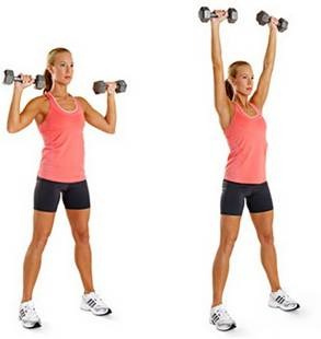 Basic dumbell shoulder press