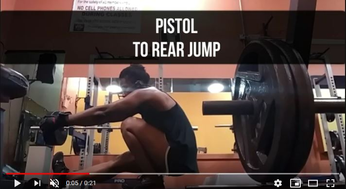 Pistol to Rear Jump Exercise