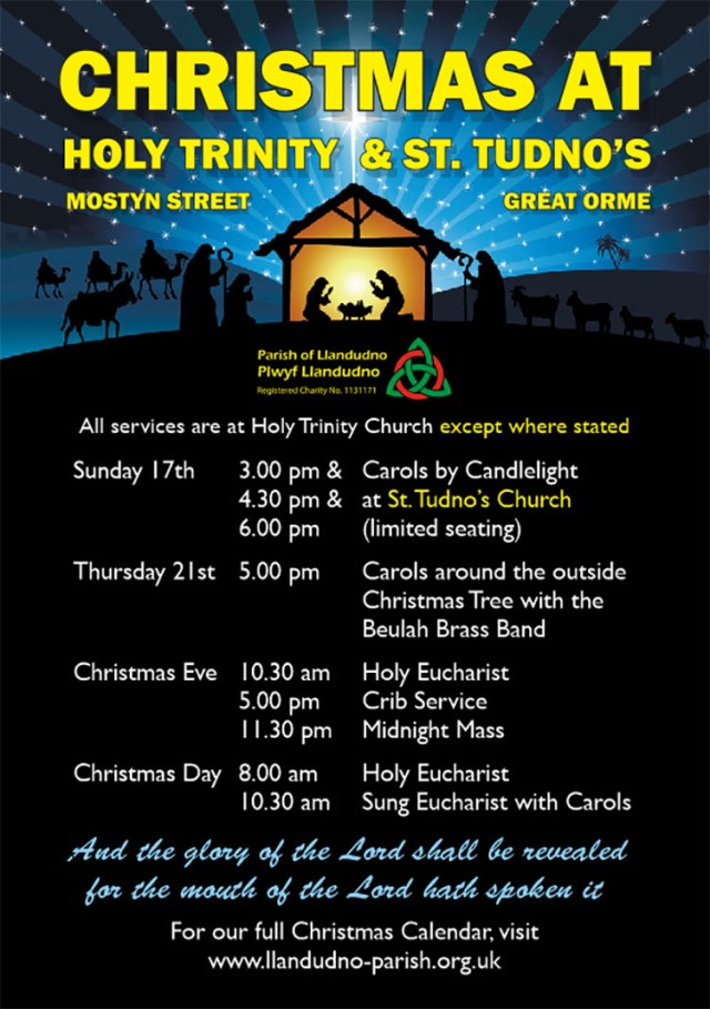 Christmas services poster.