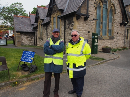 Car park attendants at Holy Trinity