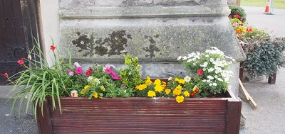 Holy Trinity flower troughs