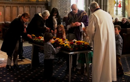 Distribution of flowers on Mothering Sunday